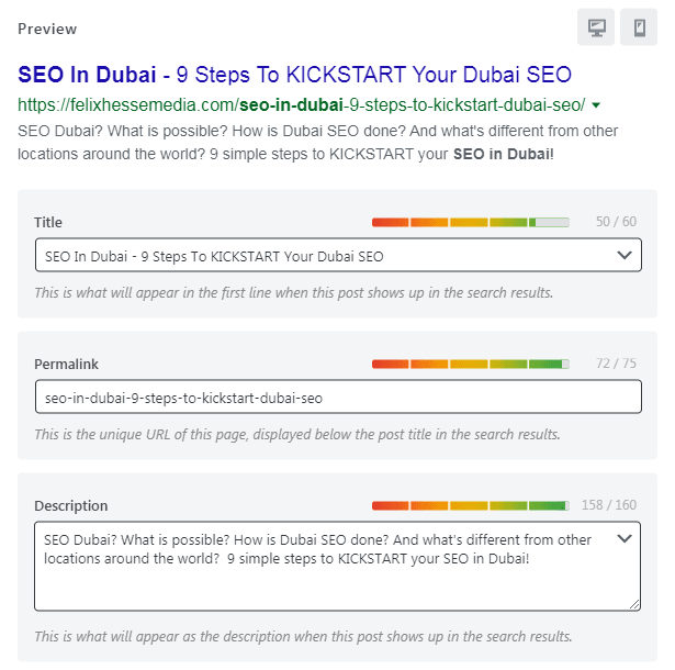 SEO Dubai - Editing The Meta Data